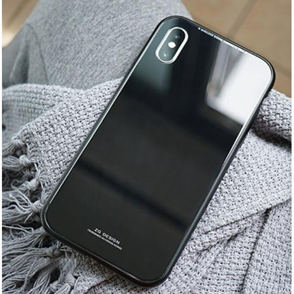 iPhone XS ケース シンプル マグネットケース ガラスケース アルミ iphoneケース おしゃれ アイフォン 大人 人気 ギフト メンズ レディース 携帯ケース karei 06
