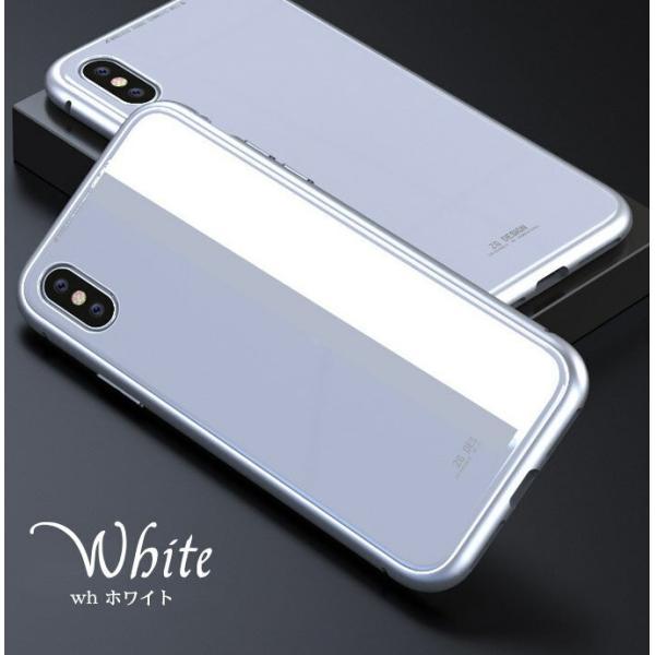 iPhone XS ケース シンプル マグネットケース ガラスケース アルミ iphoneケース おしゃれ アイフォン 大人 人気 ギフト メンズ レディース 携帯ケース karei 08
