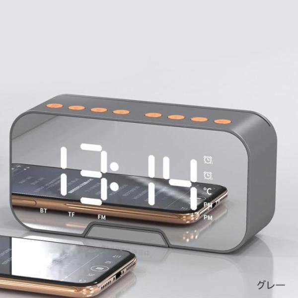 ワイヤレス スピーカー bluetooth 4.1 マイク搭載 ブルートゥース ハンズフリー ウトドア 目覚まし時計 重低音 ラジオ対応 スマホスタンド 電話受ける|karei|14