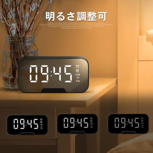 ワイヤレス スピーカー bluetooth 4.1 マイク搭載 ブルートゥース ハンズフリー ウトドア 目覚まし時計 重低音 ラジオ対応 スマホスタンド 電話受ける|karei|06