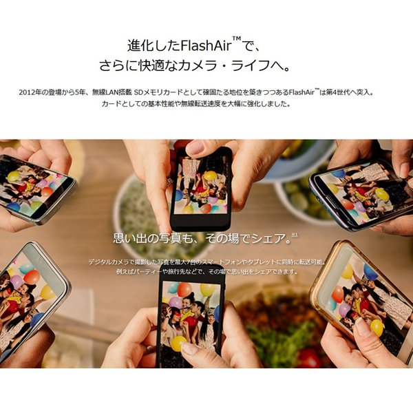 SDカード 64GB TOSHIBA 東芝 無線LAN SDXCカード 第4世代FlashAir W-04 UHS-1 U3 R:90MB/s W:70MB/s 海外リテール THN-NW04W0640C6 karei 03