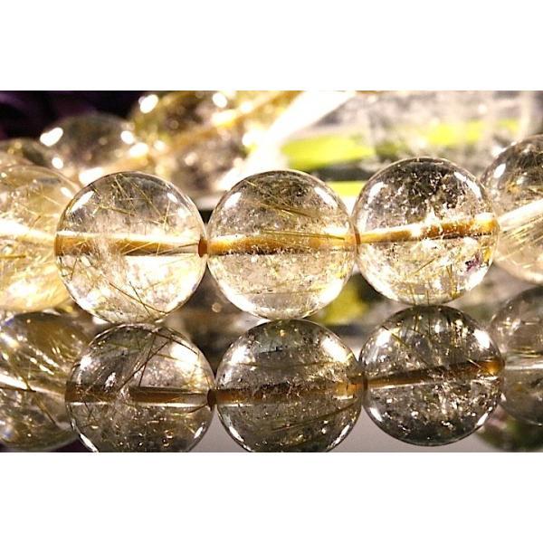 【送料無料】《珠径13mm 内径16.5cm ゴールドルチルクォーツ 金針水晶パワーストーン天然石ブレスレット code3089|karen-ya|05