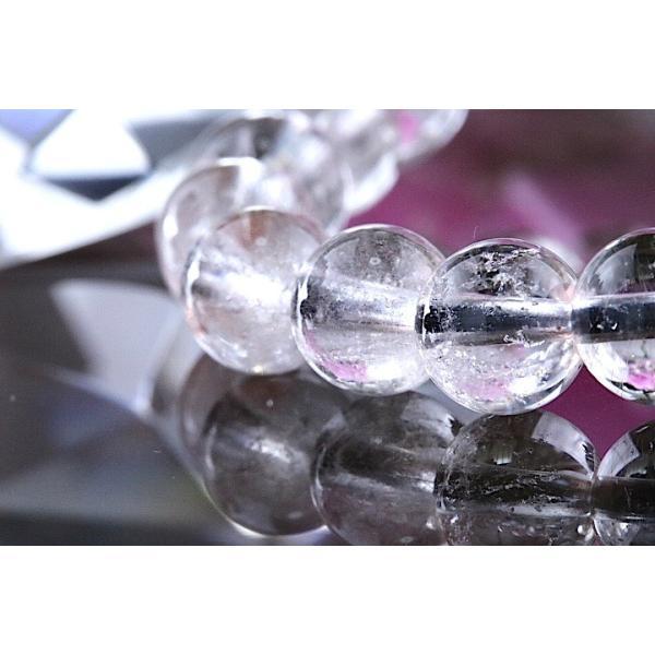【送料無料】《珠径7mm 内径15cm 》プラチナルチルクォーツ 微細針 白金水晶 パワーストーン天然石ブレスレット code3094|karen-ya|02