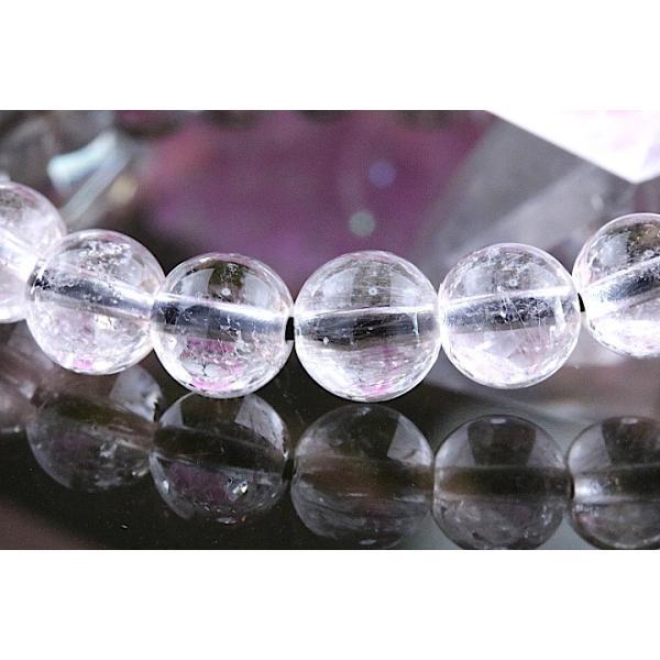 【送料無料】《珠径7mm 内径15cm 》プラチナルチルクォーツ 微細針 白金水晶 パワーストーン天然石ブレスレット code3094|karen-ya|03