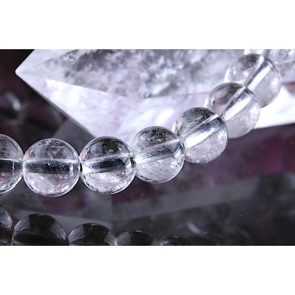 【送料無料】《珠径7mm 内径15cm 》プラチナルチルクォーツ 微細針 白金水晶 パワーストーン天然石ブレスレット code3094|karen-ya|04