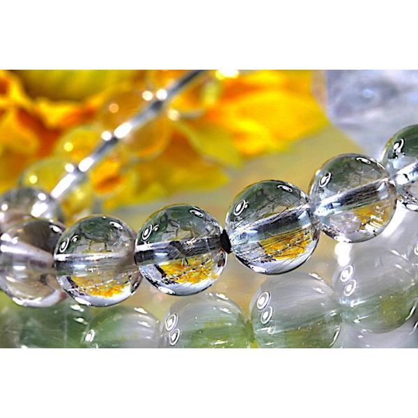 【送料無料】《珠径8mm 内径15.5cm》 プラチナルチルクォーツ 微細針 白金水晶 パワーストーン天然石ブレスレット code3098|karen-ya