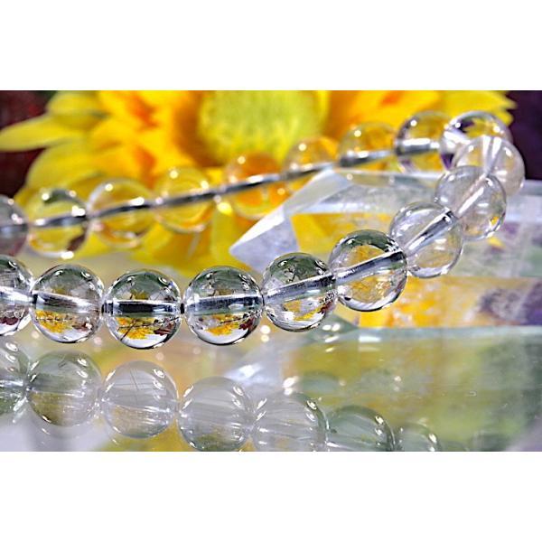 【送料無料】《珠径8mm 内径15.5cm》 プラチナルチルクォーツ 微細針 白金水晶 パワーストーン天然石ブレスレット code3098|karen-ya|04