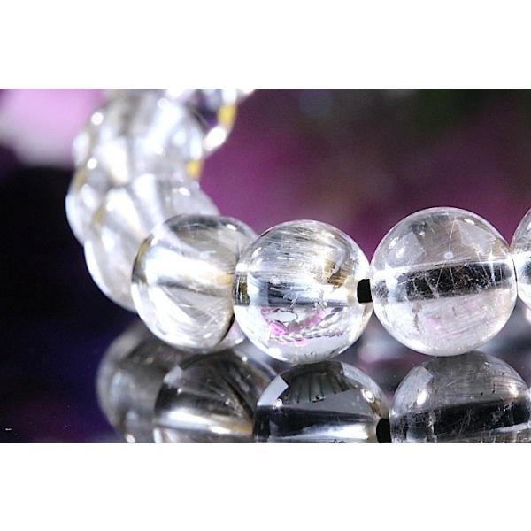 【送料無料】《珠径7mm 内径15cm 》プラチナルチルクォーツ 微細針 白金水晶 パワーストーン天然石ブレスレット code3132|karen-ya|03