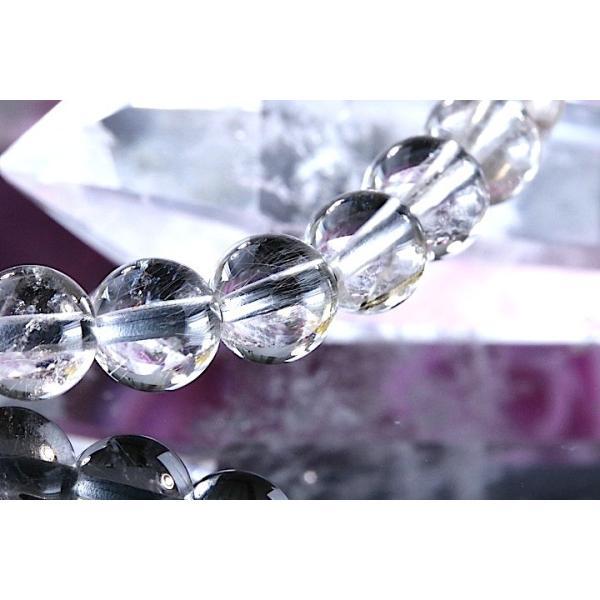 【送料無料】《珠径7mm 内径15cm 》プラチナルチルクォーツ 微細針 白金水晶 パワーストーン天然石ブレスレット code3132|karen-ya|05