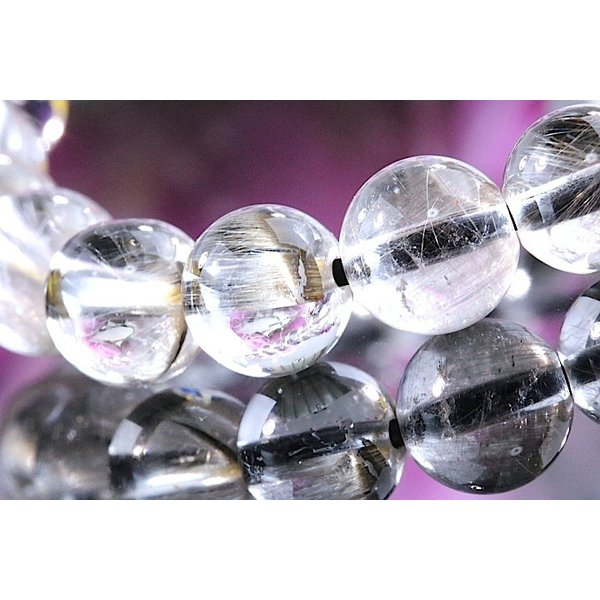 【送料無料】《珠径7mm 内径15cm 》プラチナルチルクォーツ 微細針 白金水晶 パワーストーン天然石ブレスレット code3132|karen-ya|06