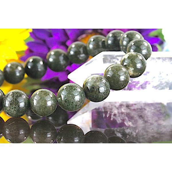 【送料無料】《 珠径9mm 内径16cm》 モスグリーンガーデンクォーツ 庭園水晶 ブレスレット パワーストーン 天然石ブレスレット code4025 karen-ya