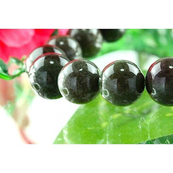 【送料無料】《珠径10mm 内径16cm》 モスグリーンガーデンクォーツ 庭園水晶 ブレスレット パワーストーン 天然石ブレスレット code4035|karen-ya|02