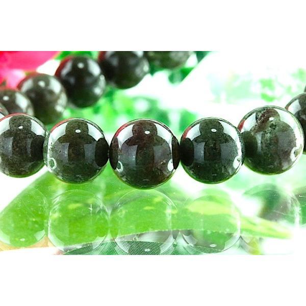 【送料無料】《珠径10mm 内径16cm》 モスグリーンガーデンクォーツ 庭園水晶 ブレスレット パワーストーン 天然石ブレスレット code4035|karen-ya|03