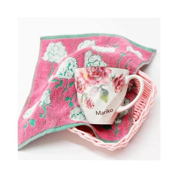 マグカップ タオル 名入れ 送料無料 プレゼント ギフト ばらぞの名入れマグカップ&タオル 母の日ギフト|karin-e|03