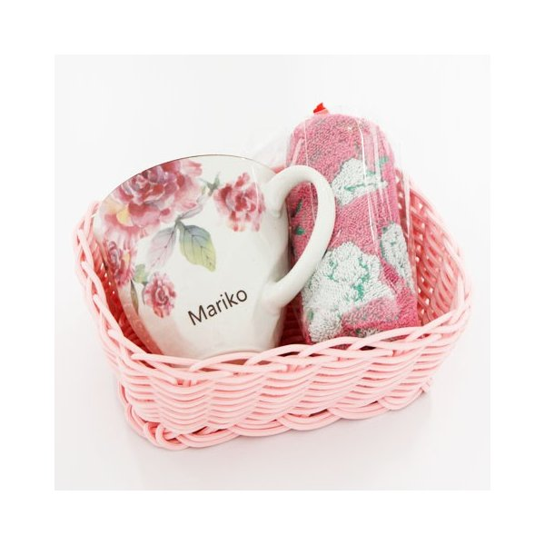 マグカップ タオル 名入れ 送料無料 プレゼント ギフト ばらぞの名入れマグカップ&タオル 母の日ギフト|karin-e|04