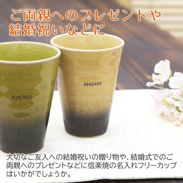 カップ タンブラー グラス 名入れ 送料無料 プレゼント ギフト 信楽焼 Jewel Cup ハーモニー karin-e 02