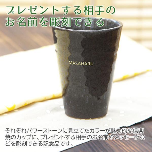 カップ タンブラー グラス 名入れ 送料無料 プレゼント ギフト 信楽焼 Jewel Cup ハーモニー karin-e 03