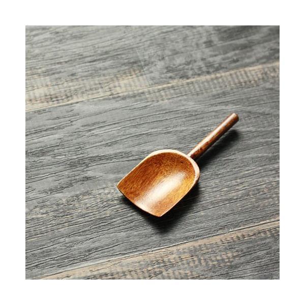 木のスコップスプーン 木製茶さじ 9cm メール便対応