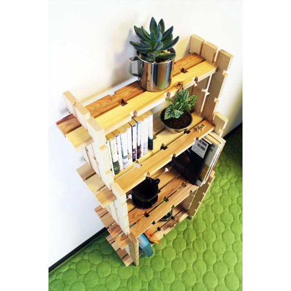 【木の組立家具・組手什kudeju】3段ラック|karooyaji|02