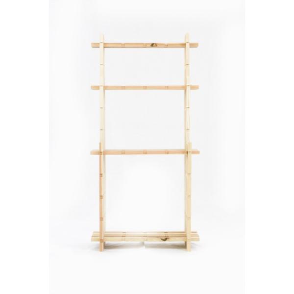 【木の組立家具・組手什kudeju】3段ラック|karooyaji|04
