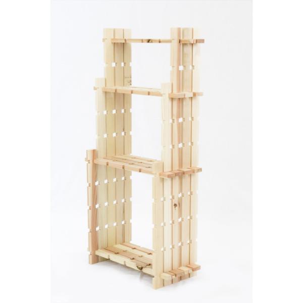 【木の組立家具・組手什kudeju】3段ラック|karooyaji|05