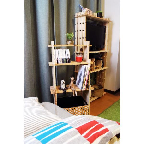 【木の組立家具・組手什kudeju】3段ラック|karooyaji|06