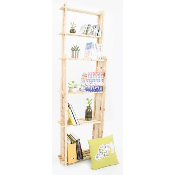 【木の組立家具・組手什kudeju】背の高い本棚|karooyaji|02