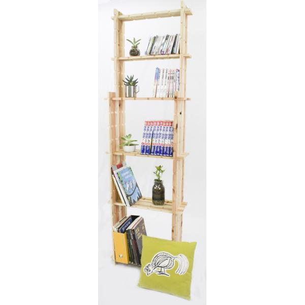 【木の組立家具・組手什kudeju】背の高い本棚|karooyaji|03