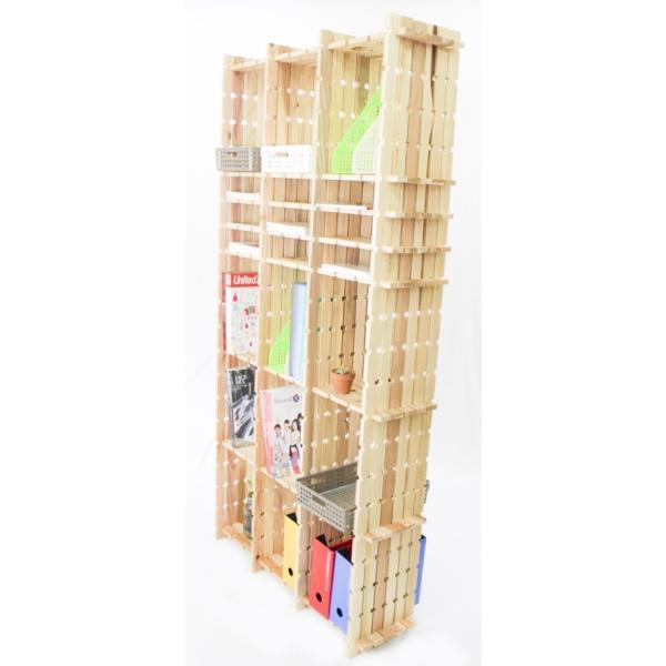 【木の組立家具・組手什kudeju】高機能書類棚|karooyaji|03