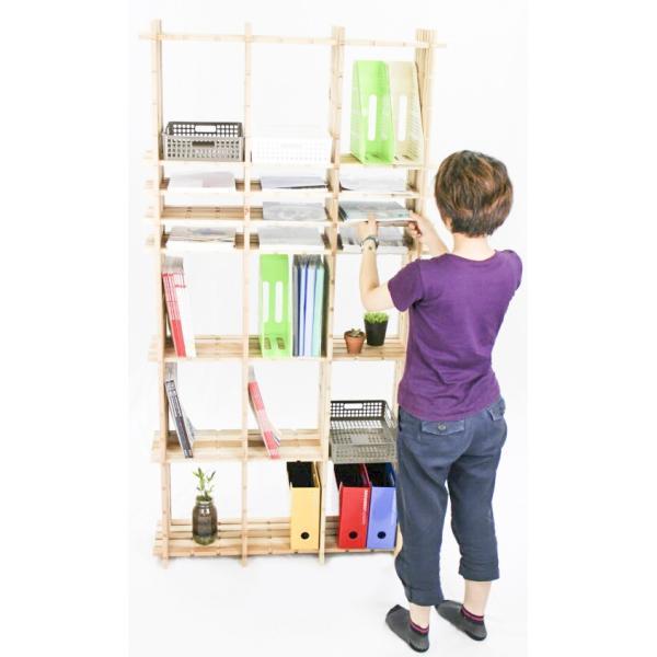 【木の組立家具・組手什kudeju】高機能書類棚|karooyaji|04