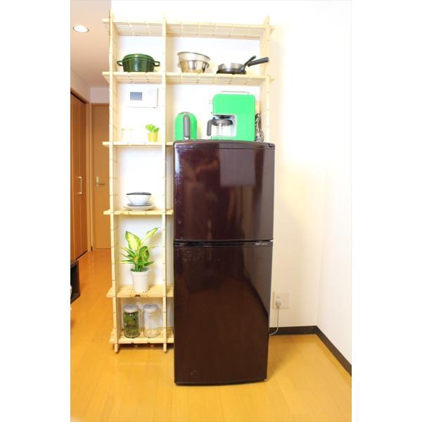 【木の組立家具・組手什kudeju】冷蔵庫ラックスリム|karooyaji