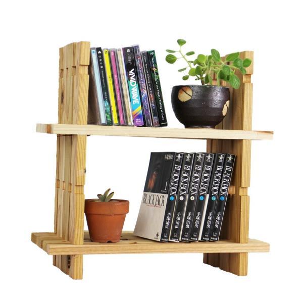【木の組立家具・組手什kudeju】二段ブックスタンド|karooyaji
