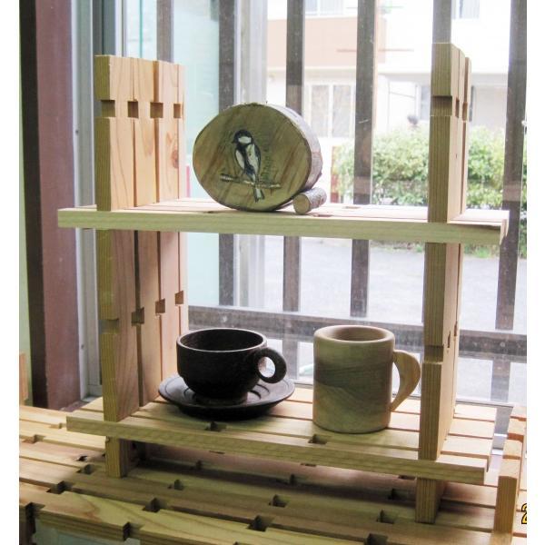 【木の組立家具・組手什kudeju】二段ブックスタンド|karooyaji|03