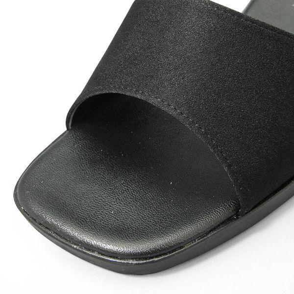 レディース オフィスシューズ オフィスサンダル ビジネスサンダル ビジネススリッパ 歩きやすい 痛くない 美脚 疲れない 黒 2WAY イチマツ