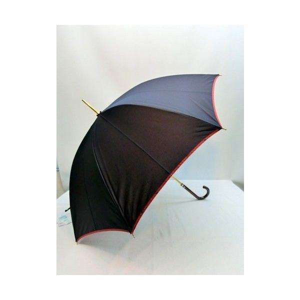 雨傘 長傘-婦人 甲州産先染め裏小花マイナスイオン日本製手開き雨傘 (送料無料)