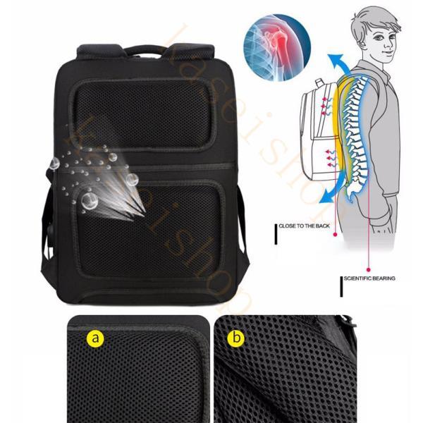 swisswin リュック ビジネスバッグ メンズ ビジネスリュックサック レディース 大容量 防水 登山 通学 旅行 通勤用 多機能 軽量 大きめ|kaseishop|10