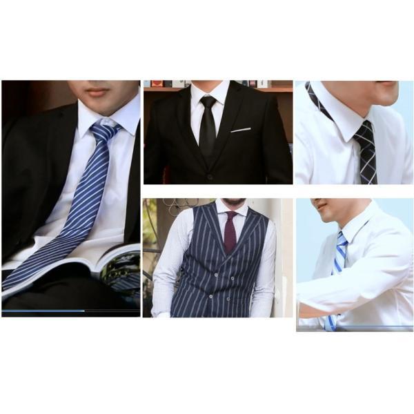 ネクタイ 3本セット メンズ チェック柄 フォーマル ストライプ  チョウネクタイ 慶事 就活 ビジネス スーツ 紳士用 結婚式 フォーマルウェア 通学 父の日|kaseishop|05