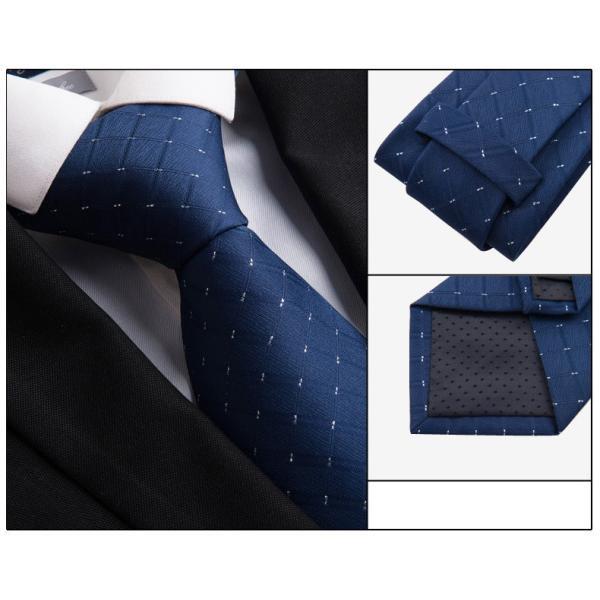 ネクタイ 3本セット メンズ チェック柄 フォーマル ストライプ  チョウネクタイ 慶事 就活 ビジネス スーツ 紳士用 結婚式 フォーマルウェア 通学 父の日|kaseishop|09
