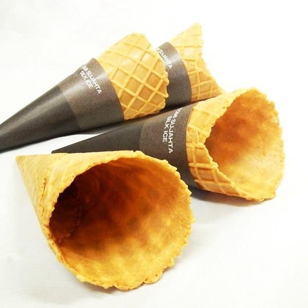 送料無料 イベント業務用まで スリーブ付きワッフルコーン20個セット ジェラート シャーベット アイスクリーム ソフトクリーム