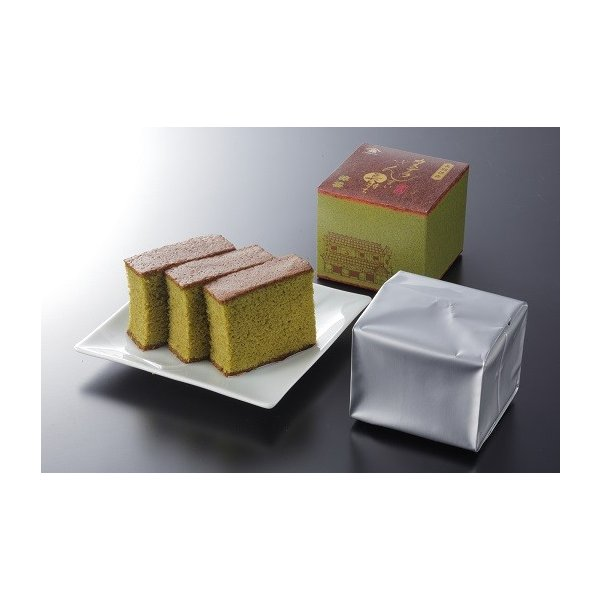 カステラざんまい長持ち(抹茶) 長期保存 長崎 ギフト お取り寄せグルメ|kashuen-moricho
