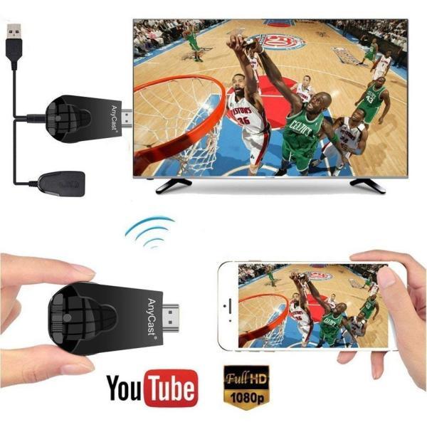 AnyCast K4-1 Wifi ディスプレイ ドングル ワイヤレス HDMI TV レシーバ 1080P 解像度 Airplay Mirascast スクリーン ANYCAST