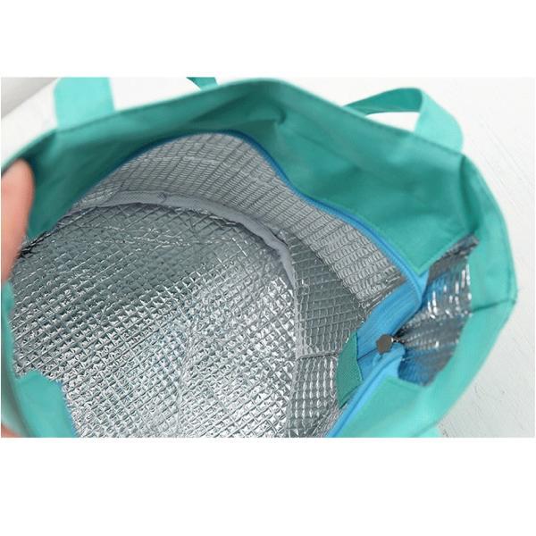 大容量 ランチ ピクニック 保温 保冷 弁当 女性 ハンド ランチ トート バッグ ポーチ 旅行 ボックス LUNCHB-NV