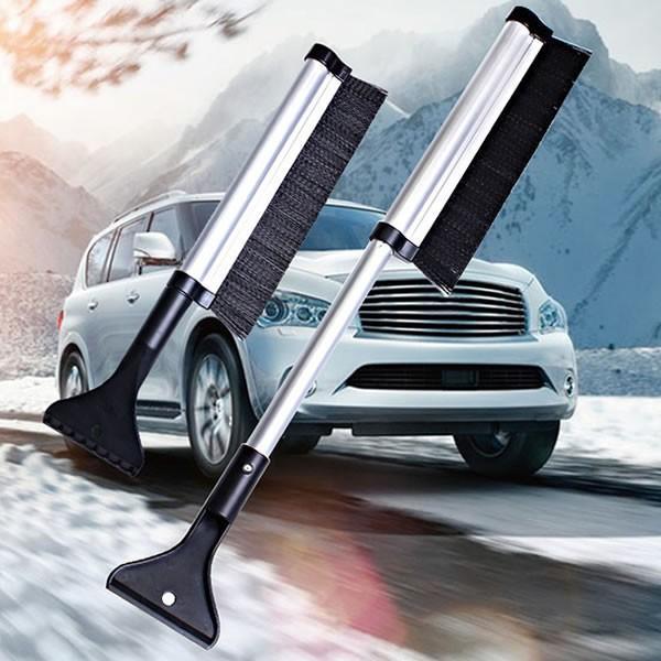スノーブラシ X009 シャベル 除雪 車 屋根 2WAY 伸縮 伸びる 積雪 簡単 頑丈 スコップ SNOWBR02