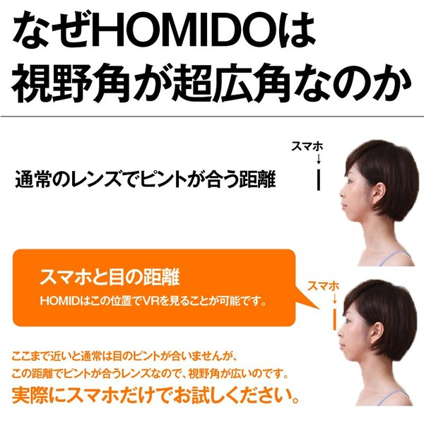 VRゴーグル 正規店販売 HOMiDO V2 ワンランク上のヘッドセット 超広角レンズ  3D iPhone android 4-6インチ対応 景品 ギフト プレゼント|kasoumegane|04