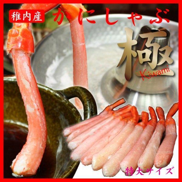しゃぶしゃぶ かにしゃぶ ポーション カニ鍋 海鮮 ギフト 蟹 紅 ズワイガニ 北海道 蟹足 特大 5L 500g 極 元気P