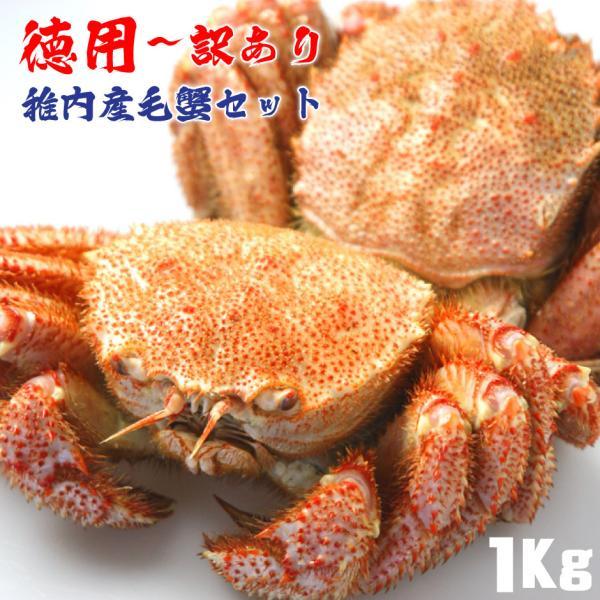 毛ガニ 訳あり セット 蟹  蟹みそ 北海道 稚内 詰合せ 1kg