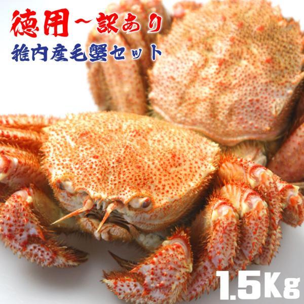 毛ガニ 訳あり セット 蟹 蟹みそ 北海道 稚内 詰合せ 1.5Kg
