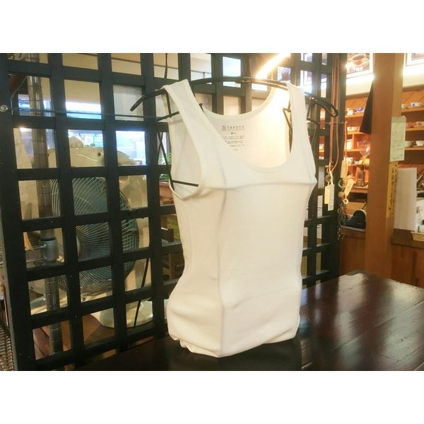 竹布 TAKEFU タケフ 竹のテレコタンクトップ オフホワイト 【M〜Lサイズ】|kasurinishida