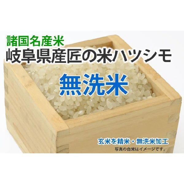 匠の米・岐阜ハツシモ【玄米1kgを精米・無洗米加工】