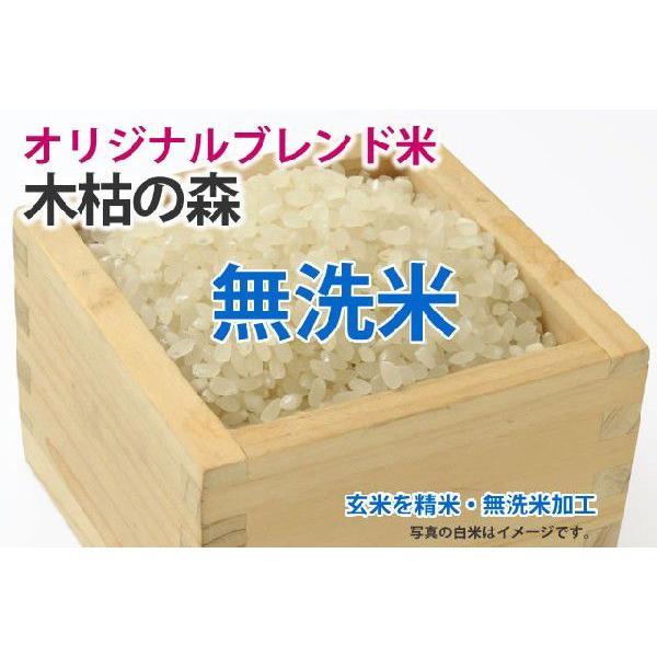 木枯の森【玄米1kgを精米・無洗米加工】